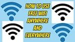 How to used free wifi anywhere